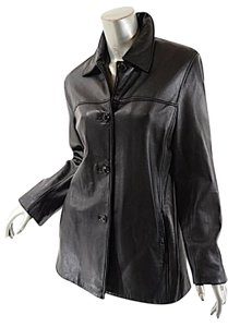 Marc New York Leather Hip Length Lined Leather Jacket