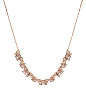 Givenchy Swarovski elements Rose Gold-Tone Stone Frontal Necklace