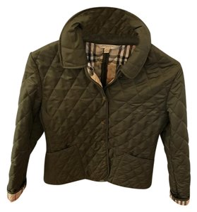 Burberry Quilted Green Military Green Jacket