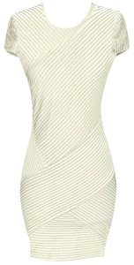 Torn by Ronny Kobo Pleated Cross-over Bodycon Sheath Dress