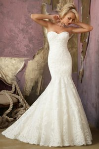 Mori Lee 1862 Elegant Alcencon Lace Wedding Dress