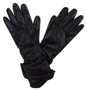 Simply Vera Vera Wang Simply Vera by Vera Wang Black Leather Gloves