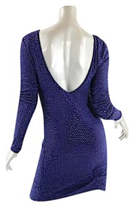 YOYO YEUNG Cobalt Sequins Beads Formal Dress