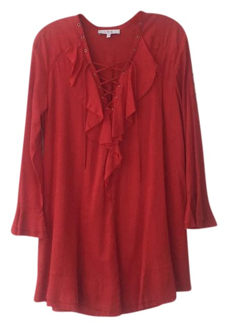 Item - Red Florine Short Casual Dress Size 2 (XS)