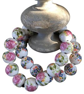 Other Vintage Hand Painted Chinese Porcelain Beaded Bracelet