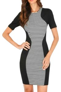 Torn by Ronny Kobo short dress Striped Color-blocking Bodycon Sheath on Tradesy