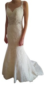 Essense Of Australia Antique Ivory Lace Fit And Flare Dress - Style 6238 Wedding Dress