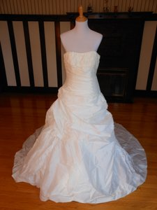 Pronovias Off White Satin 6233 Destination Wedding Dress Size 12 (L)