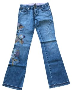 A|X Armani Exchange Boot Cut Jeans-Distressed