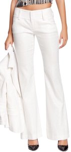 Alice + Olivia Linen Free Shipping Size 4 Wide Leg Pants Silver