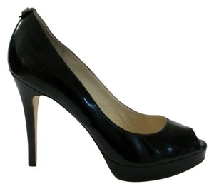 Michael Kors Peep Toe Platform York Black Pumps