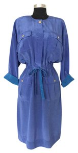 Leslie Fay short dress Blue Vintage on Tradesy