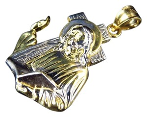 Other 10K Yellow Gold Mini 3D Detailed Jesus Bearing Pendant Charm 1.2Ct