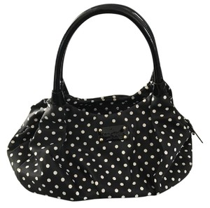 Kate Spade Satchel in Black with White Polka Dots