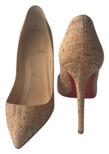 Christian Louboutin So Kate Pointed Toe cork Pumps