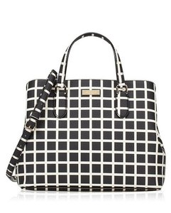 Kate Spade Satchel in Black White plaid