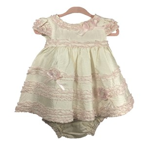 BABY BISCOTTI Ruffles Silk Spring Summer Formal Dress