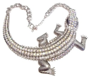 Other High End AB Rhinestone Crocodile Bib Statement Necklace Jewelry