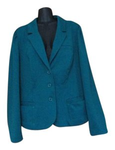 Lane Bryant Turquoise Spring Summer Career Plus Size Teal Blazer