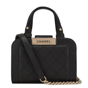 47635d6c257a Added to Shopping Bag. Chanel Tote in Black. Chanel Small Label Click  Shopping Black Leather Tote