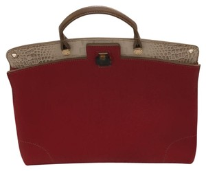 Furla Satchel in Red and Tan