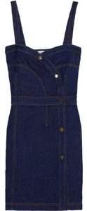 See by Chloé short dress Blue Denim Sweetheart Chloe Summer on Tradesy