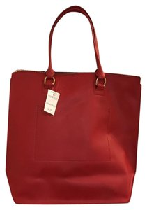 J.Crew Tote in Red Navy