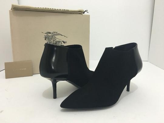 Burberry Pointed High Heels Side Zip Black Boots Image 1