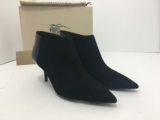 Burberry Pointed High Heels Side Zip Black Boots Image 10