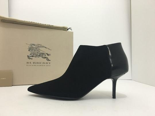 Burberry Pointed High Heels Side Zip Black Boots Image 2