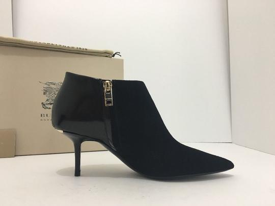 Burberry Pointed High Heels Side Zip Black Boots Image 4