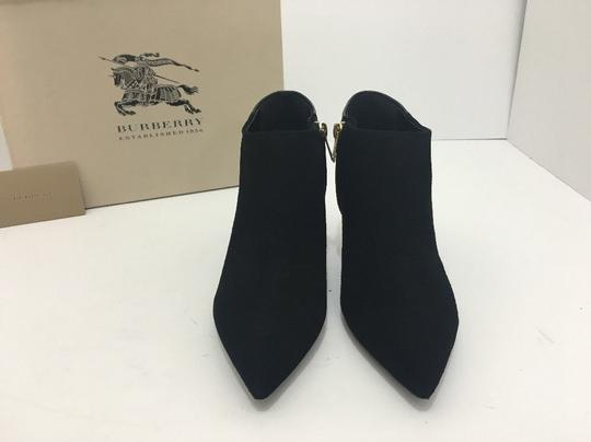 Burberry Pointed High Heels Side Zip Black Boots Image 5