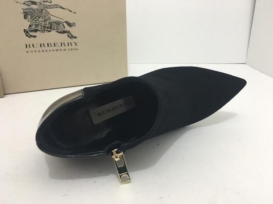 Burberry Pointed High Heels Side Zip Black Boots Image 6