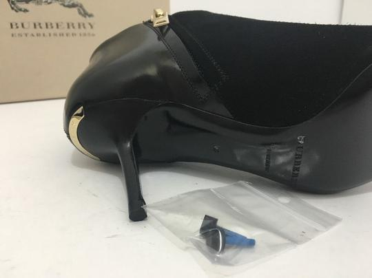 Burberry Pointed High Heels Side Zip Black Boots Image 9