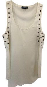 Topshop Studded Top White