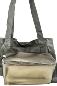 Rick Owens Metallic Gold Pewter Travel Bag