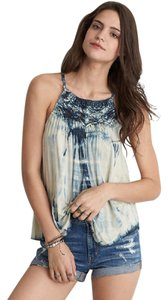 American Eagle Outfitters Top Indigo Tie Dye
