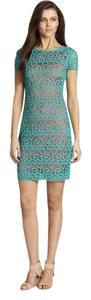 Elie Tahari short dress coral and turquoise on Tradesy