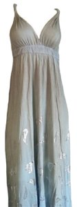 Gypsy05 short dress tan and blue Maxi Organic Usa Made on Tradesy
