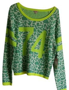 6a3733400abb Juicy Couture Sparkle Green Sweater - Tradesy