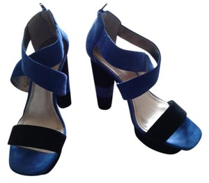 BCBG Paris Black &Blue Sandals