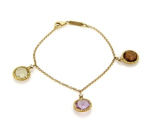 Roberto Coin Roberto Coin Ipanema Diamond & Gemstone Charms 18k Gold Chain Bracelet