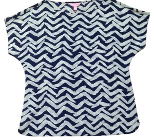 Lilly Pulitzer Top navy/white