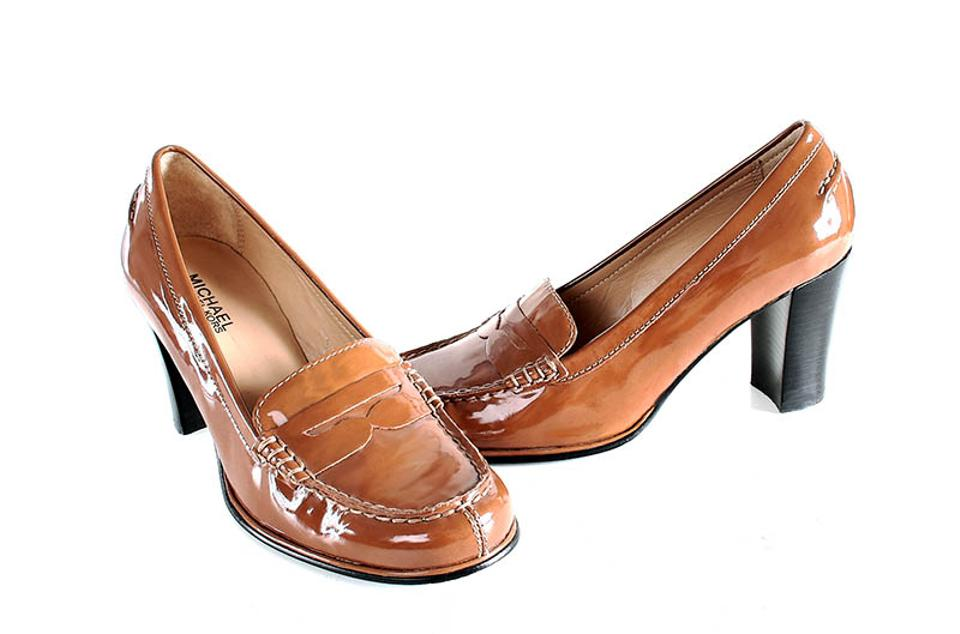 0506c5105afa Michael Kors Brown Bayville Penny Loafer Pumps Sandals Size US 7 ...
