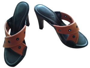 Harley Davidson Orange/Black Sandals