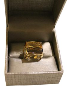 Other Gorgeous 18k Yellow Gold Smokey Topaz and Rutilated Quartz Ring