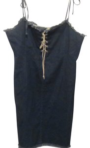 street blues short dress blue denim on Tradesy