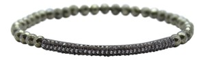 Tai Tai Pyrite Stretch Bracelet with CZ Bar
