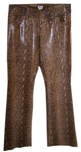 Cache Leather Snakeskin Reptile Pants