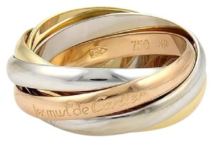 Cartier Cartier Trinity 18k Gold Rolling 5 Bands Ring Size EU 52-US 6.25